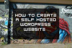 Create a self hosted wordpress website