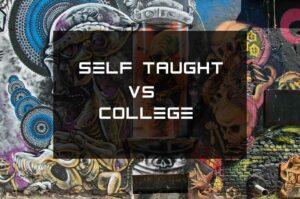 Self taught web developer vs college
