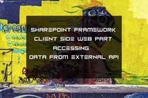 sharepoint framework client side web part